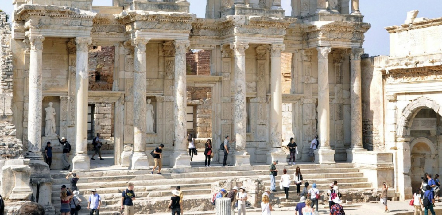 Front of the Celsus Library in Ephesos